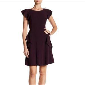 Rebecca Taylor NWT short sleeve ruffle crepe dress